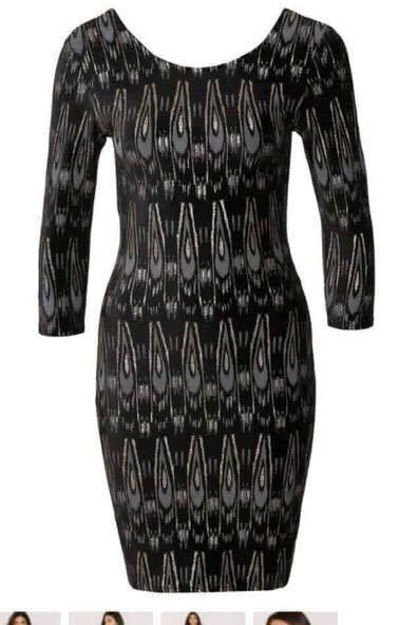 sort kjole med guld glimmer topfashion