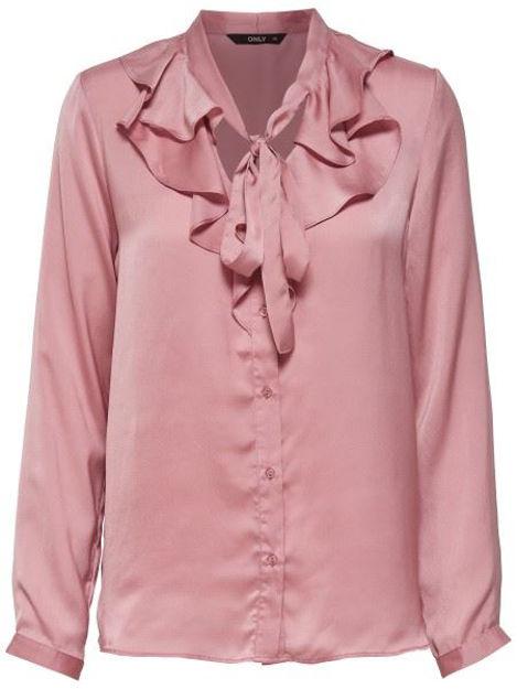 ONLsila l/s ruffle shirt Topfashion