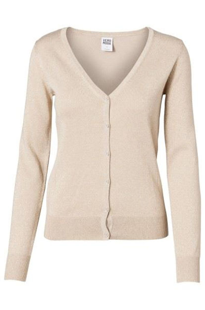 VMGlory new ls v-neck lurex cardigan topfashion