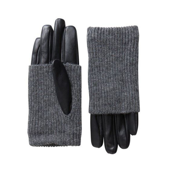 PCPatty leather gloves topfashion