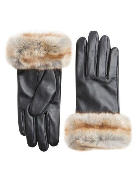 PCJENNA LEATHER GLOVE topfashion
