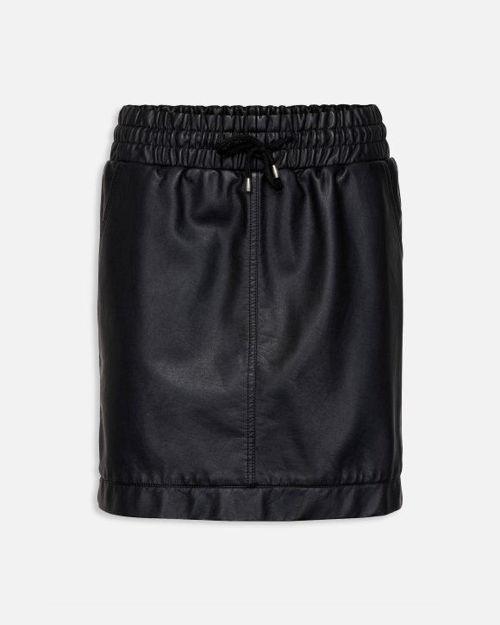 imiteret skind nederdel topfashion