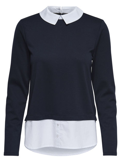 ONLcally l/s collar top