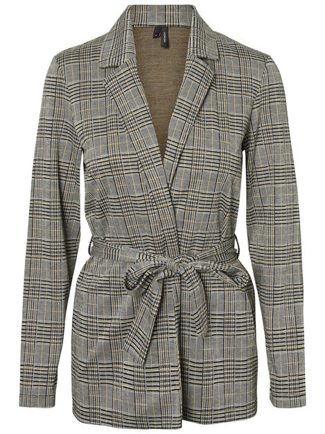 VMblair check l/s belt blazer VIP