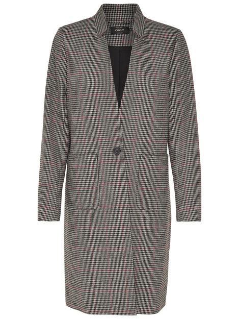 onlhelen check wool coat cc