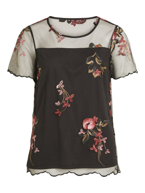 VIperno s/s embroidery top
