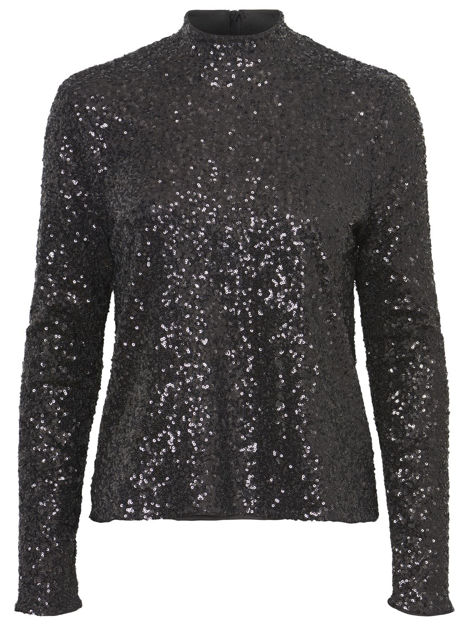VMSPARKLY LS HIGHNECK TOP