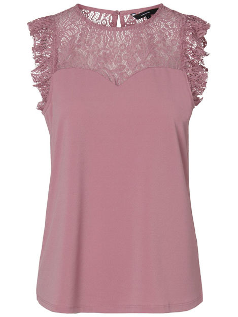 VMALBERTA SWEETHEART LACE S/L TOP NOOS