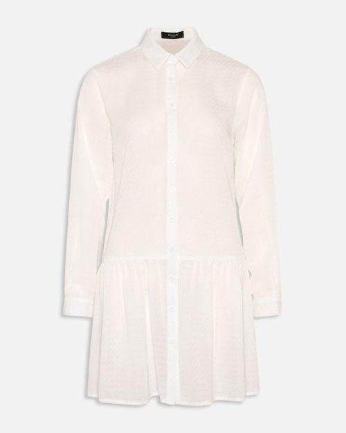 Lang chiffon skjorte/kjole