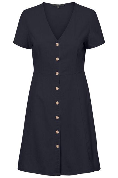VManna milo ss button dress