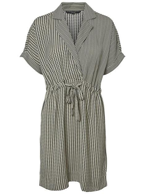 vmarial 2/4 short wrap dress.