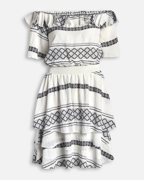 Off shoulder kjole.
