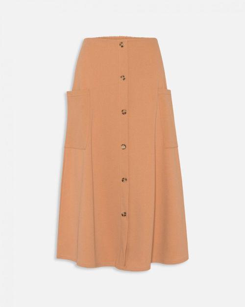 nederdel med knapper.