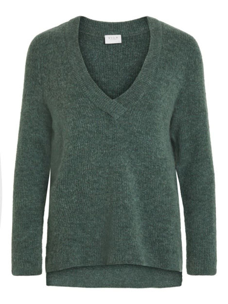 VIESHA KNIT NEW V-NECK L/S TOP