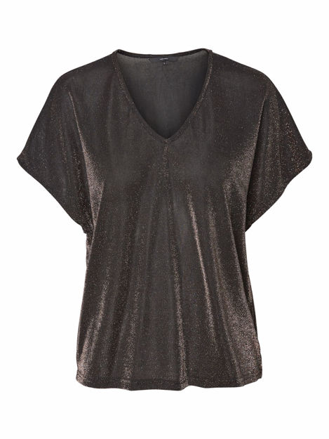 VMDENISE SS V-NECK TOP JRS BOO