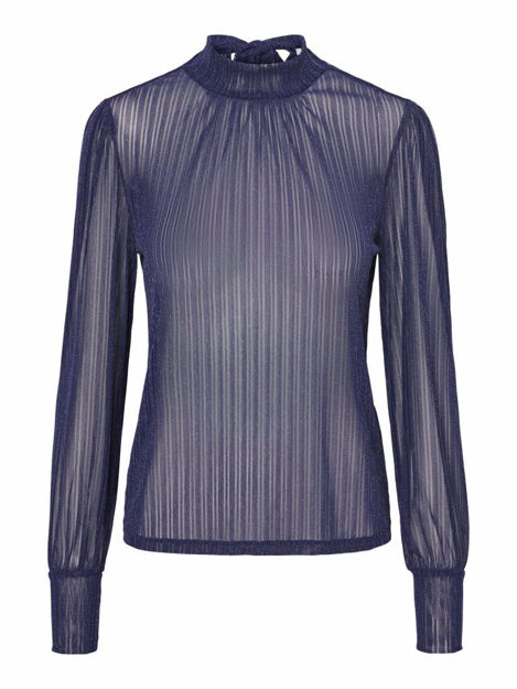 PCJETTE LS GLITTER T-NECK TOP CAMP