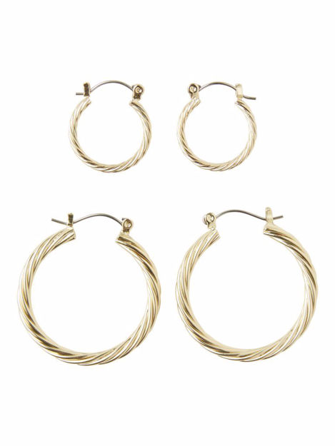 PCJULIE 2-PACK HOOP EARRINGS
