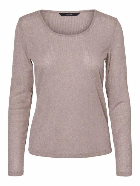 vmisla L/S o-neck lurex blouse.