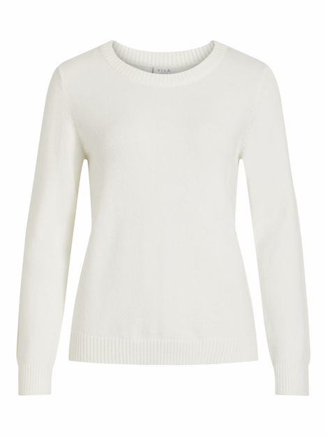 VIRIL L/S O-NECK KNIT TOP-NOOS