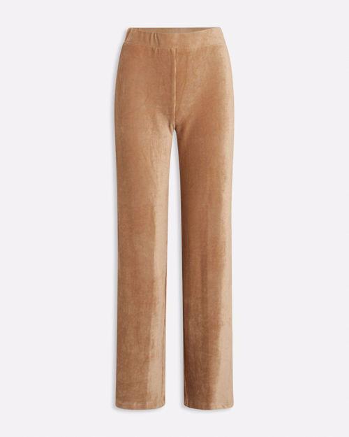 Nougat velour bukser