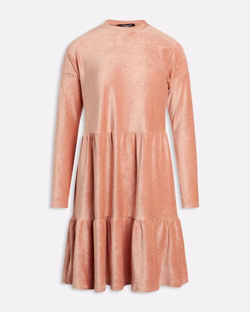 Langærmet velour kjole
