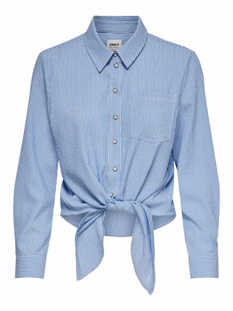 ONLlecey ls stripe knot dnm shirt