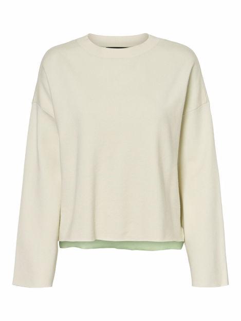 VMdelubdouble ls 0-neck blouse
