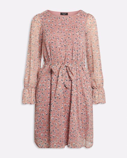 Rosa kjole med print