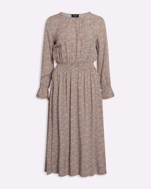 Lang mønstret kjole