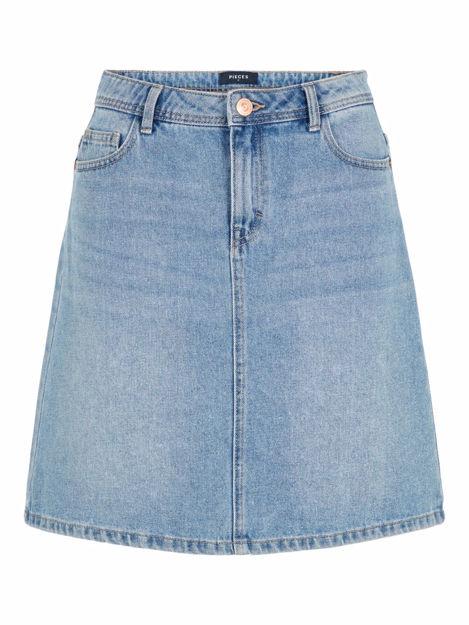 pclou hw denim skirt.