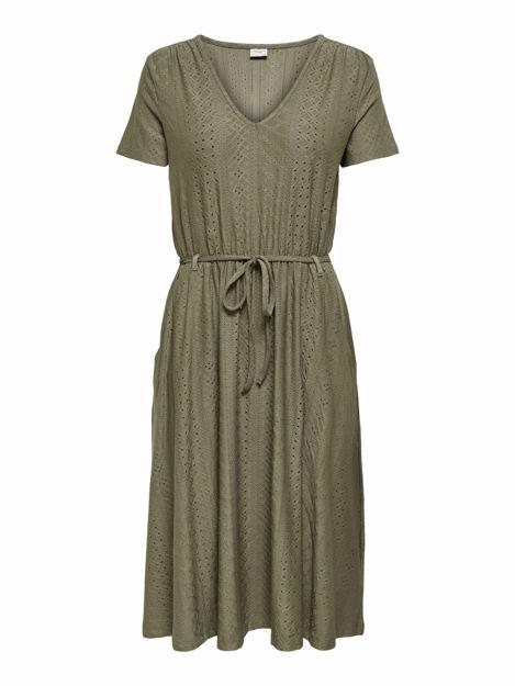 JDYFATINKA S/S V-NECK BELT DRESS JRS