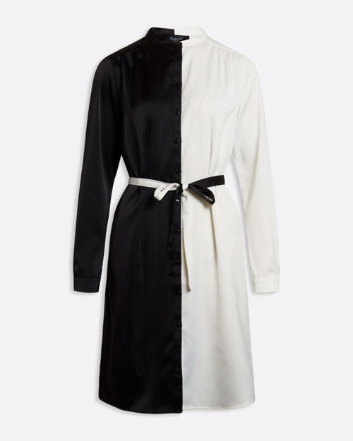 sort/hvid kjole