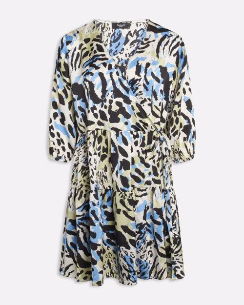 Wrap dress m. print