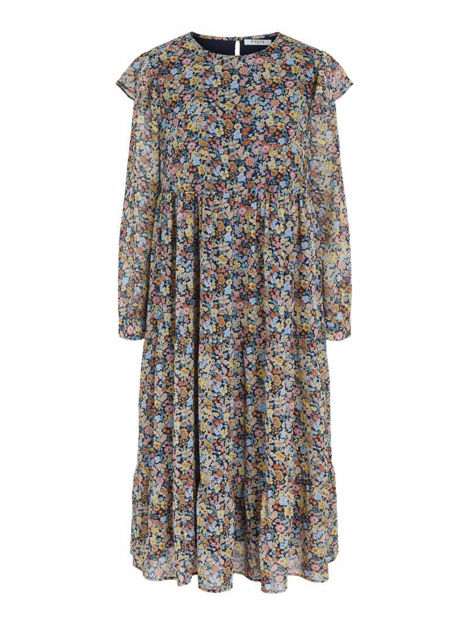 PCAUGUSTA LS MIDI DRESS D2D DMO