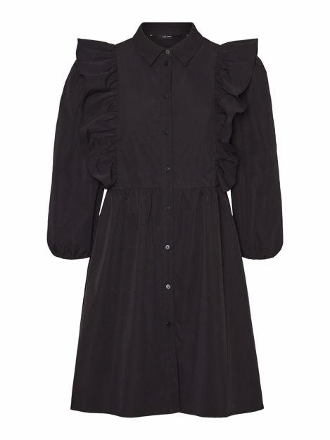VMCARMELLA 7/8 RUFFLE SHIRT DRESS FD20