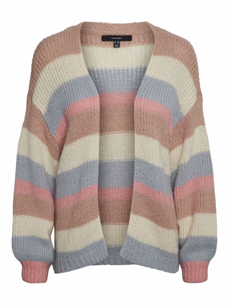 VMMABY LS STRIBE OPEN CARDIGAN LCS