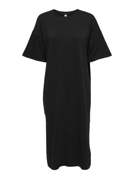 ONLAVA S/S SLIT LONG DRESS SWT