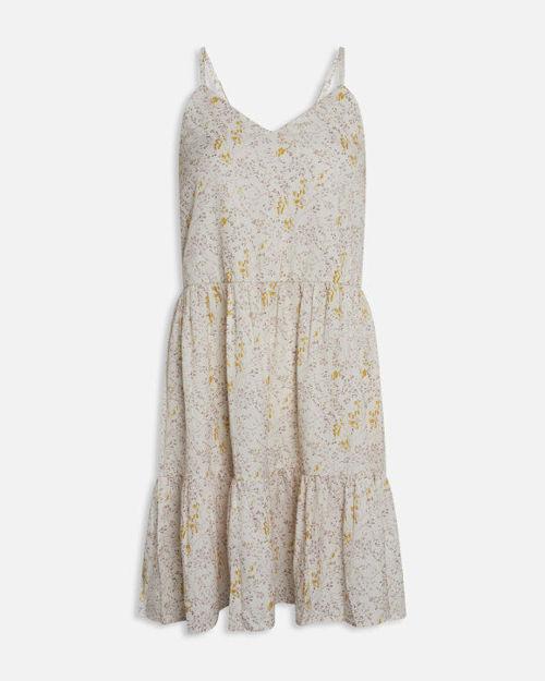 kjole med strop og mønstre.