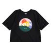 Levi's Cropped T-shirt m. print. Black