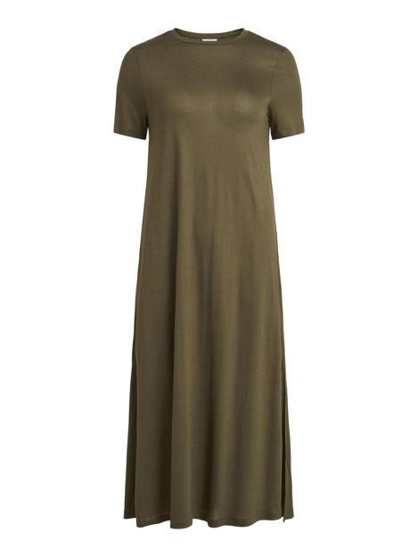 VILENE S/S LONG SLIT DRESS