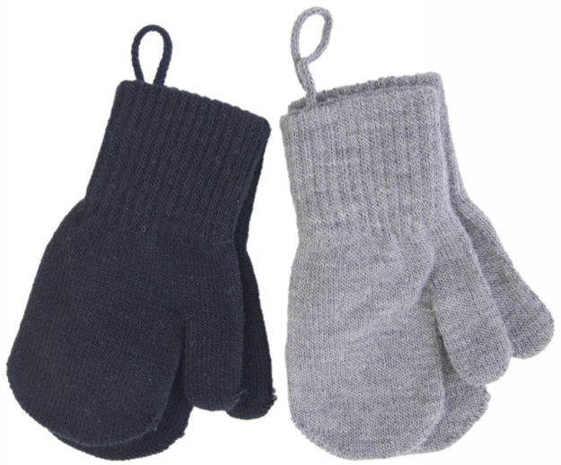 Melton baby mittens 2 pack
